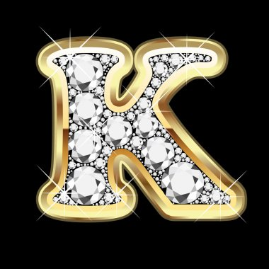 K gold and diamonds bling