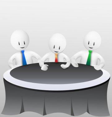 3d business men - meeting