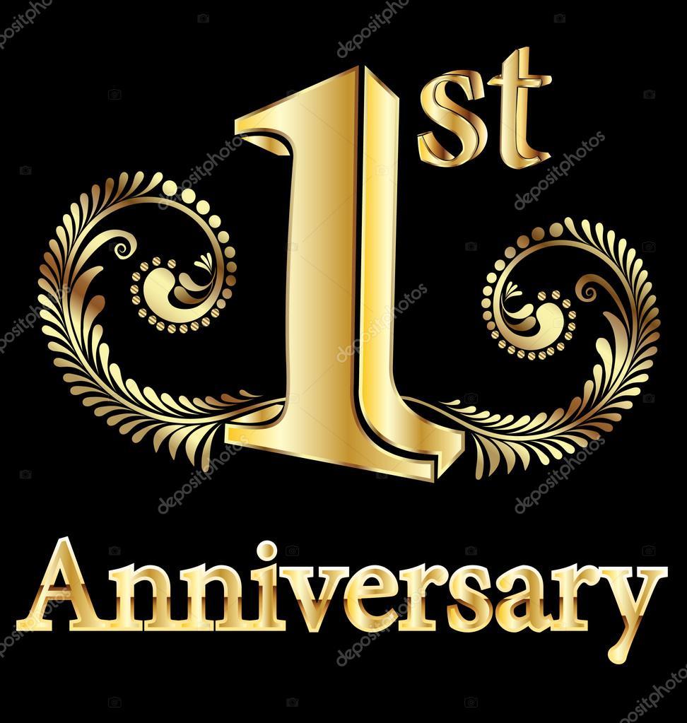 first anniversary happy birthday stock vector c glopphy 12669134 first anniversary happy birthday stock vector c glopphy 12669134