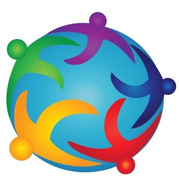 Team on the world logo