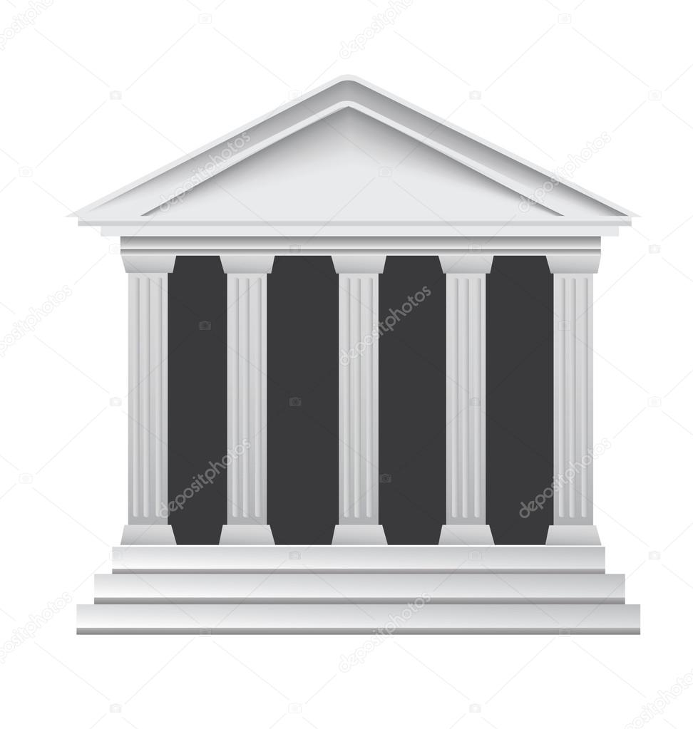Columns ancient greek historic bank