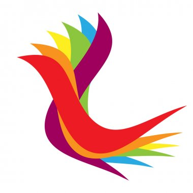 Feather colorful logo
