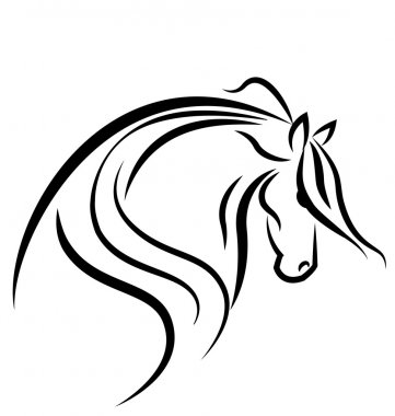 Horse silhouette logo vector
