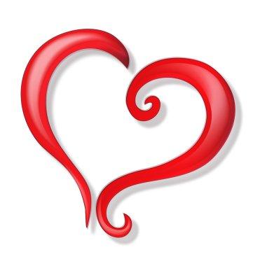 Heart of love logo vector