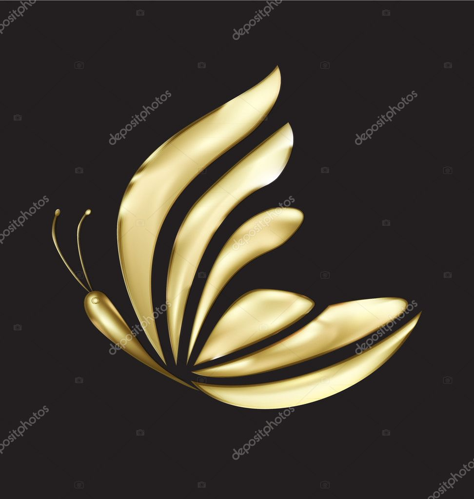 Gold butterfly design