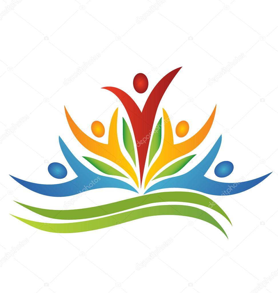 Swoosh teamwork logo