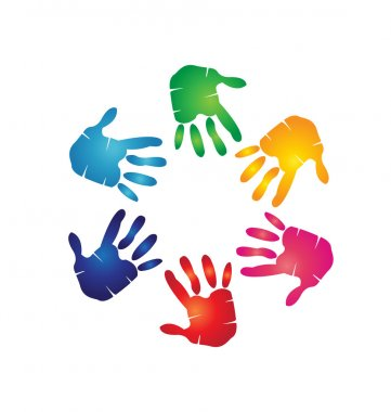 Hands colorful logo