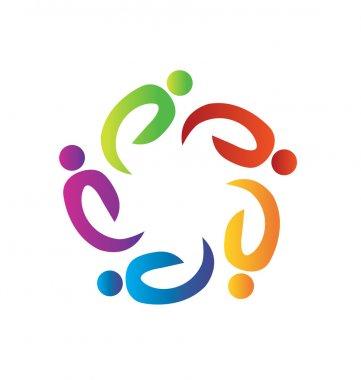 Teamwork charity logo vector