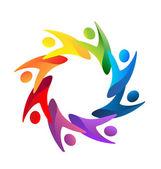 Fényképek Segít a logó vektoros csapatmunka