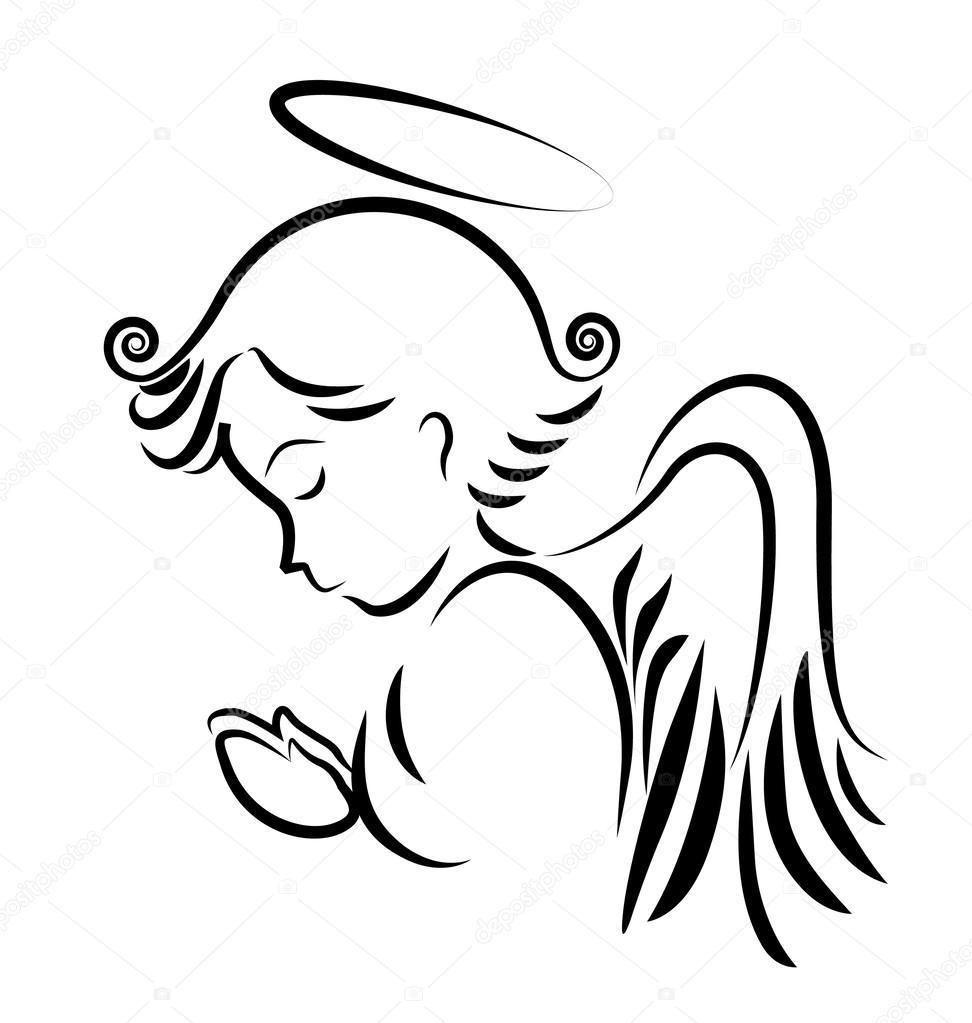 Angel praying logo