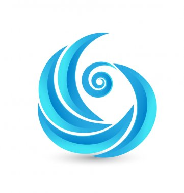 Swirly waves logo vector