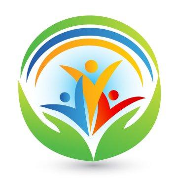 Teamwork connections logo vector