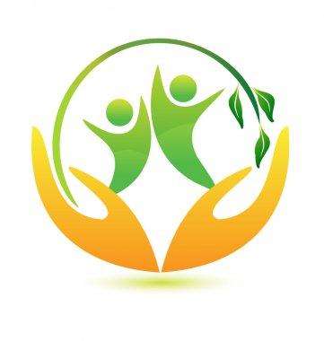 Healthy and happy logo