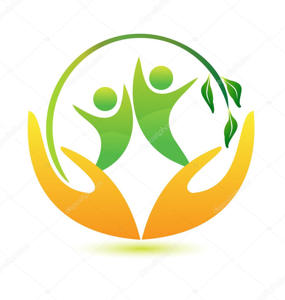 Healthy and happy logo