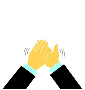 Hands in a applause logo vector