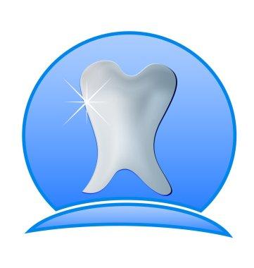 Dentist logo illustration -Tooth dental icon