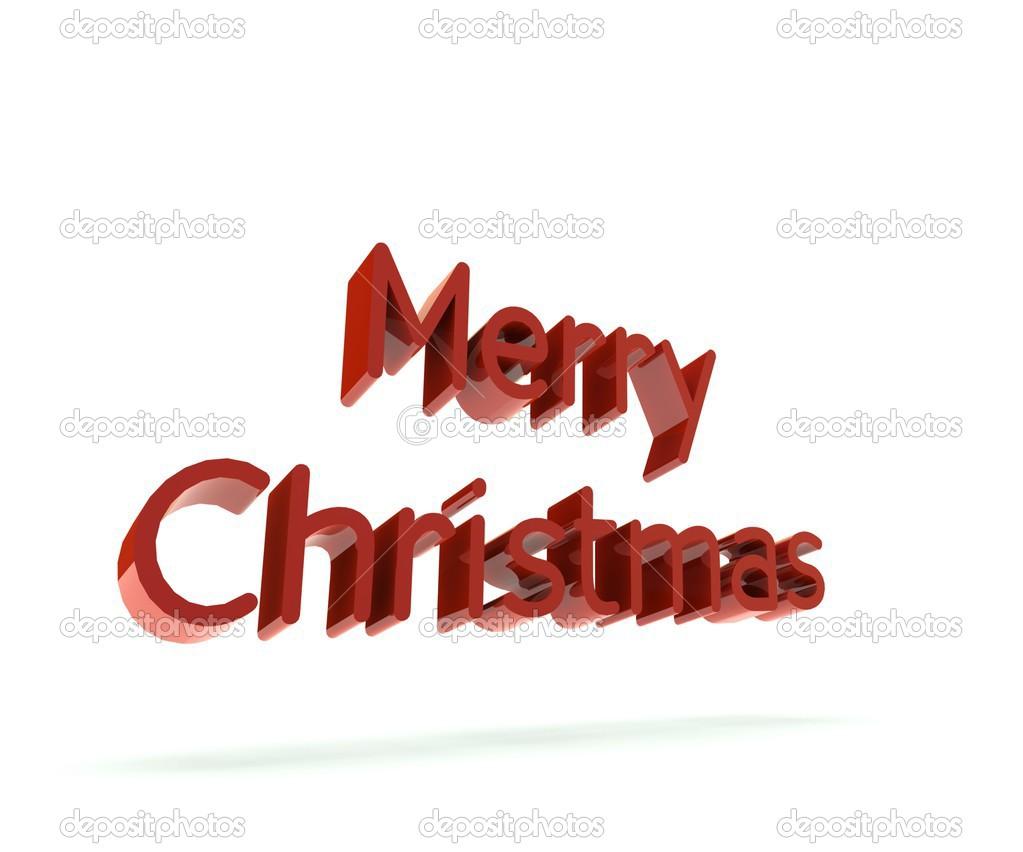 Frohe Weihnachten-rot Worte 3 d — Stockfoto © Glopphy #33384669