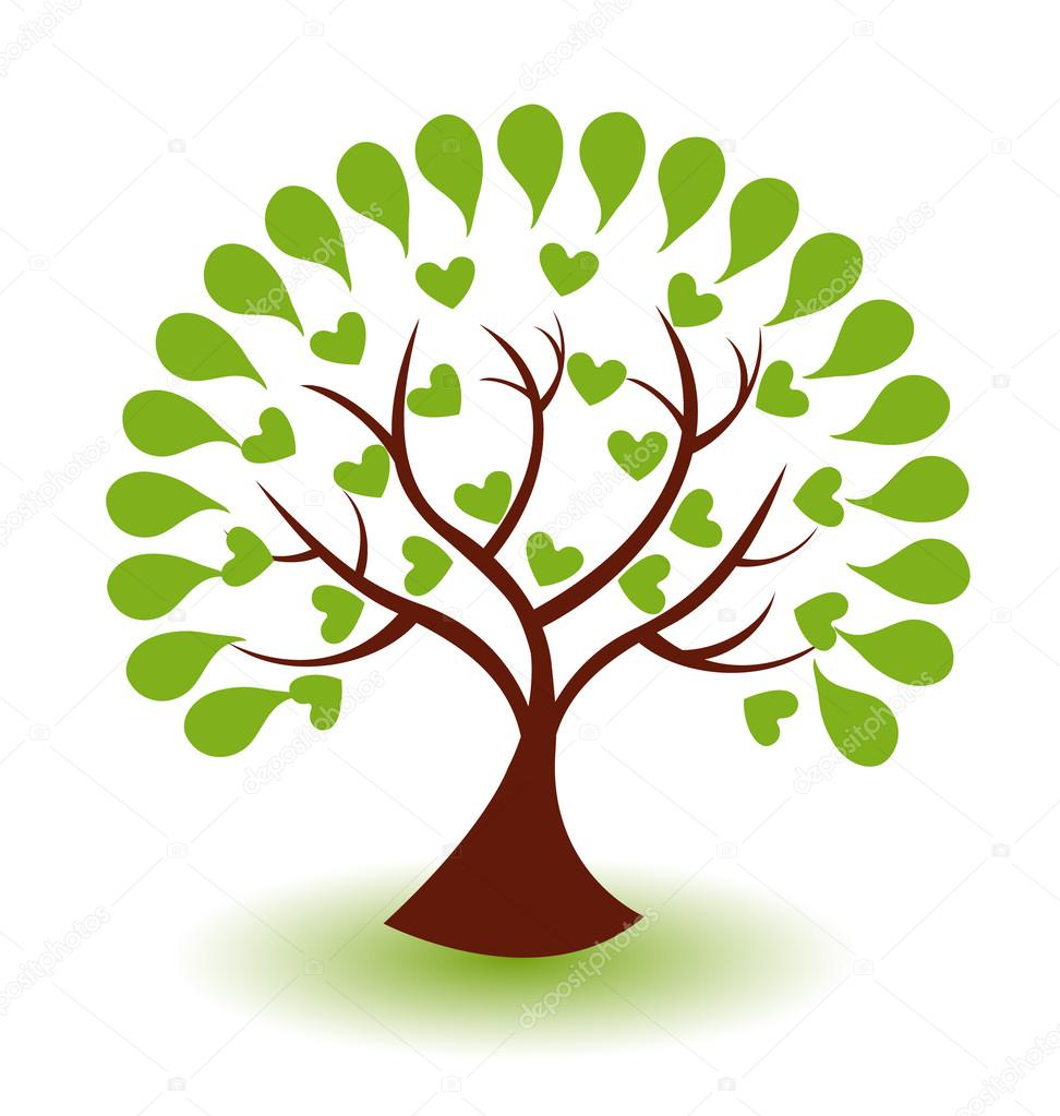 Vector of abstract tree logo