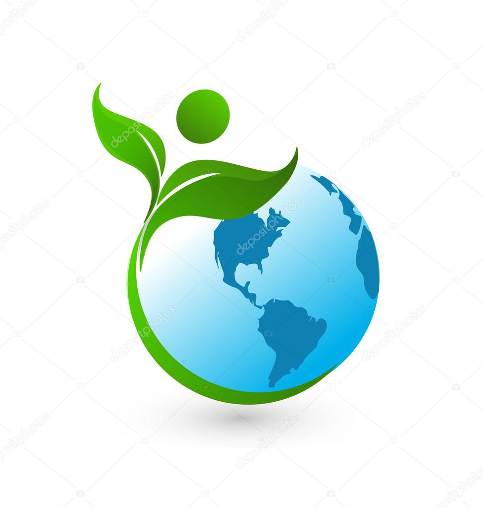 Healthy world logo background