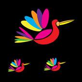 Fotografie abstrakte Vögel fliegen Vektor