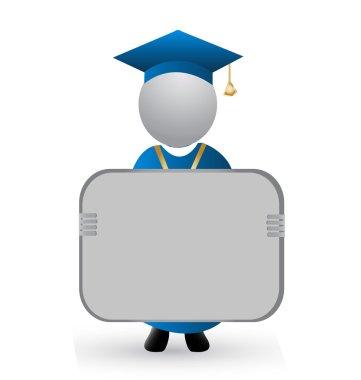 Graduation logo vector