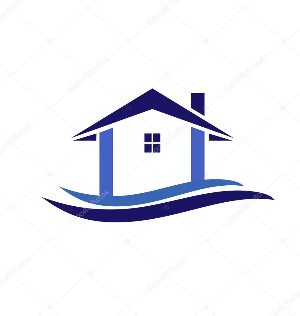 Vecteur de logo maison et vagues image vectorielle 42942807 - Logo maison et objet ...