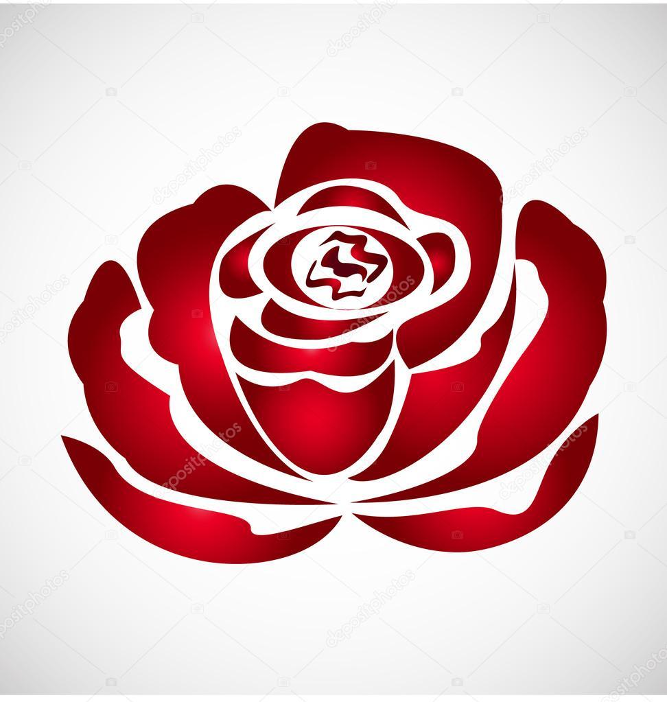 Rose silhouette logo
