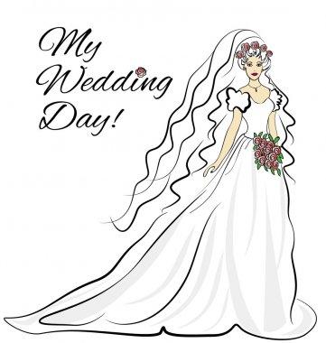 Bride wedding invitation card