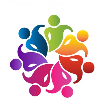 Teamwork 7 people logo