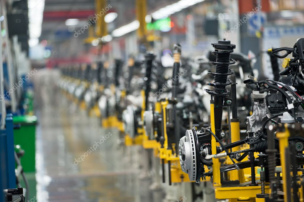 Image with Car production line