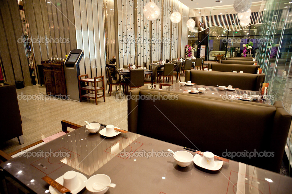 Luxe restaurant decoratie u stockfoto pengyou