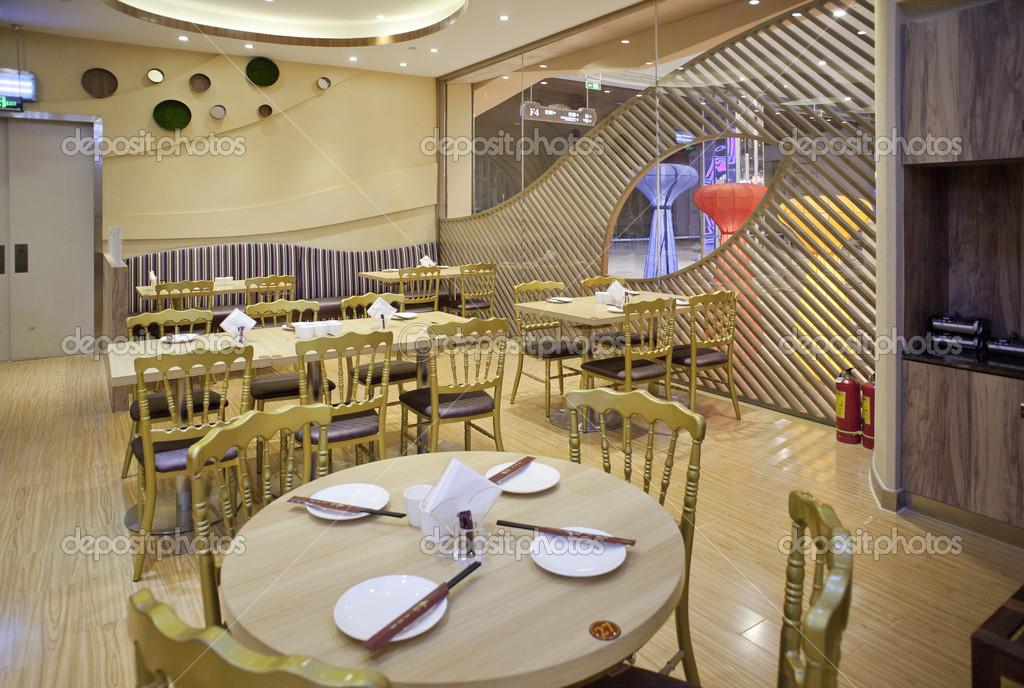 Luxe restaurant decoratie u stockfoto pengyou