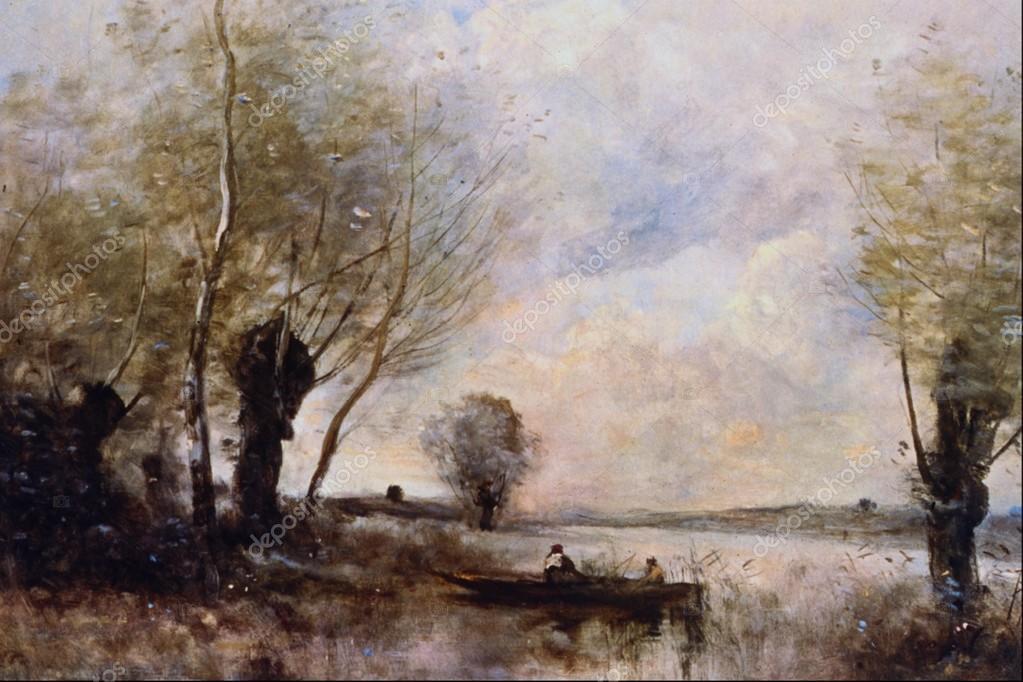 Landschaftsmalerei renaissance  westlicher antike Gemälde, Landschaftsmalerei — Redaktionelles ...