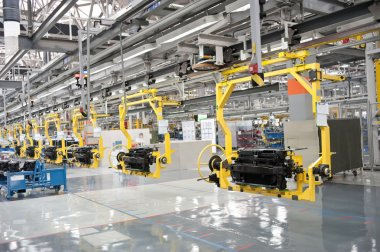 Modern car production line