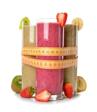 Various fruit smoothies