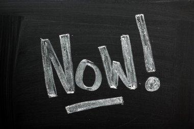 Now! on a Blackboard