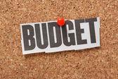 Fotografia ritaglio di giornale del bilancio