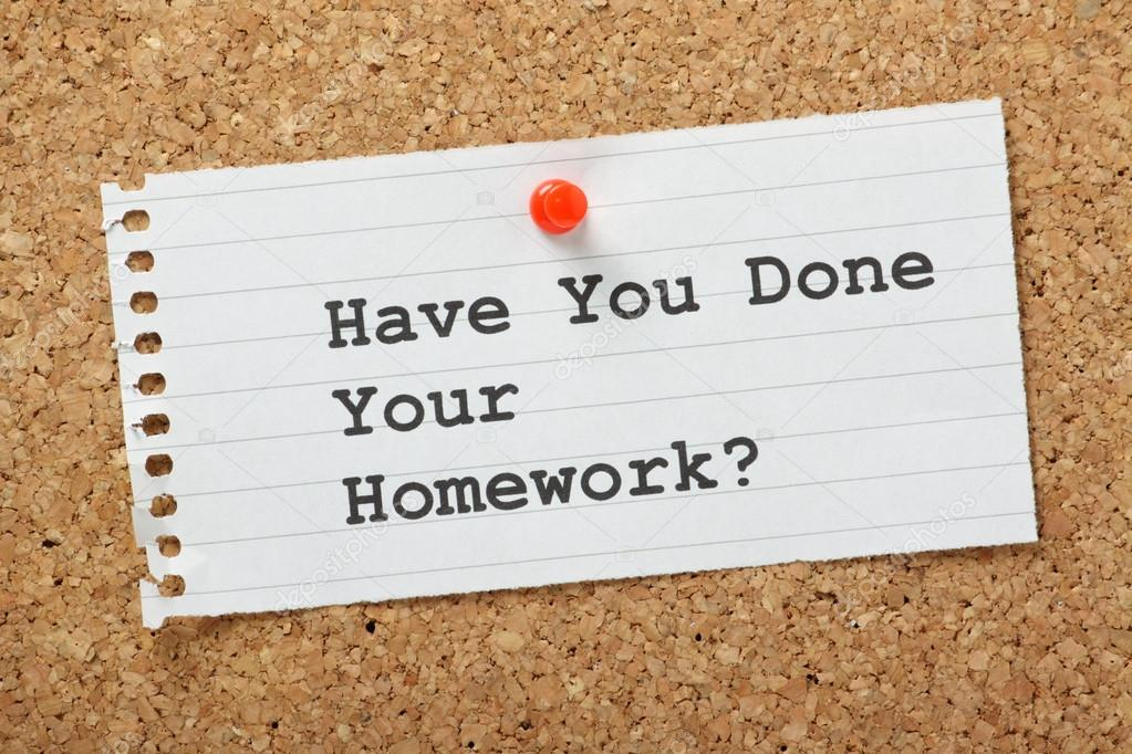 have you done your homework stock photo © thinglass  have you done your homework typed on a paper note pinned to a cork notice board not just for school as doing your homework prepares you for business