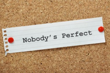 "Картина, постер, плакат, фотообои ""nobody 's perfect "", артикул 35648811"
