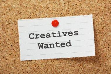 Creatives Wanted