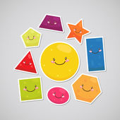 Cute geometric shapes (sticker)