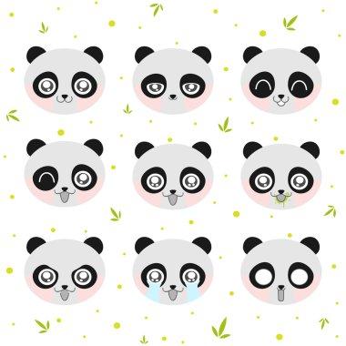 Kawaii smiley panda