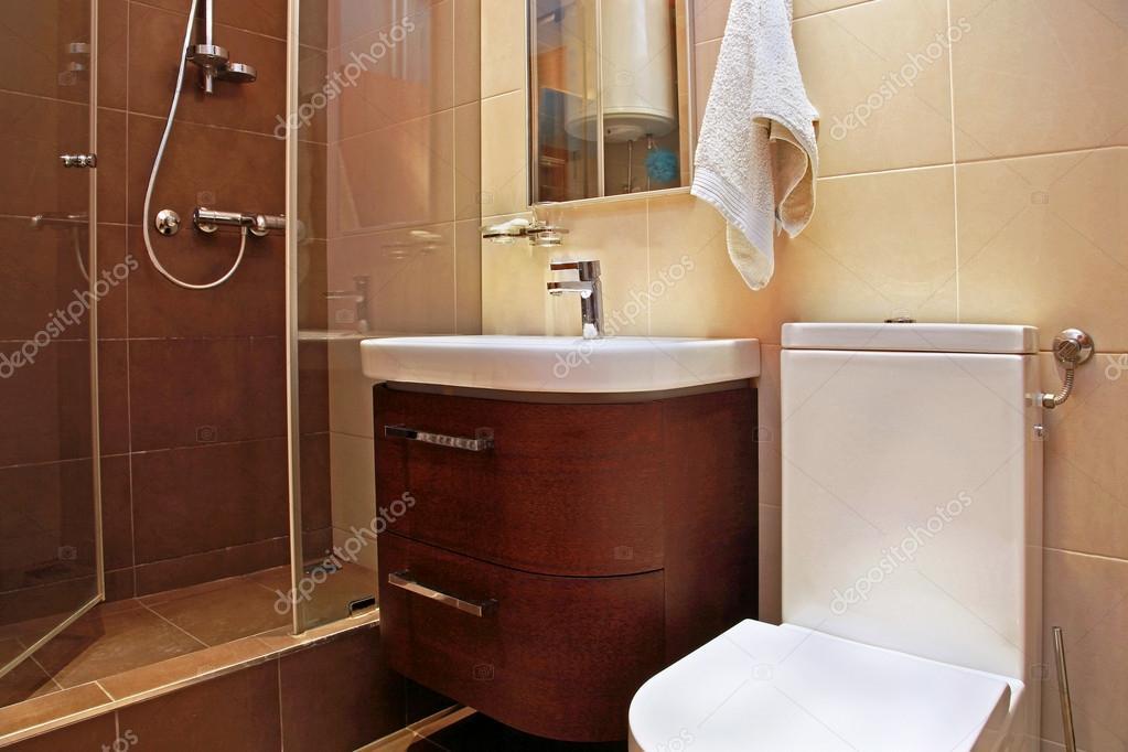 bruin badkamer klein — Stockfoto © ttatty #18180623