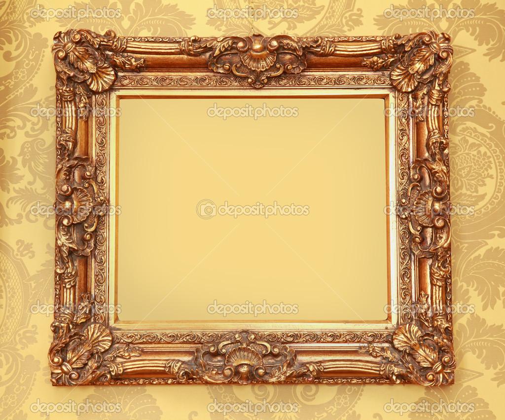 Gold Baroque frame — Stock Photo © ttatty #21633069