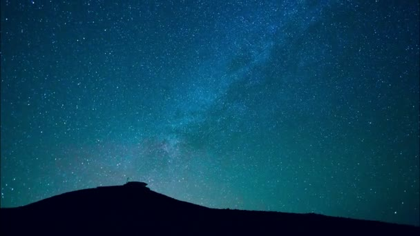 Milky way stars at night, HD Timelapse
