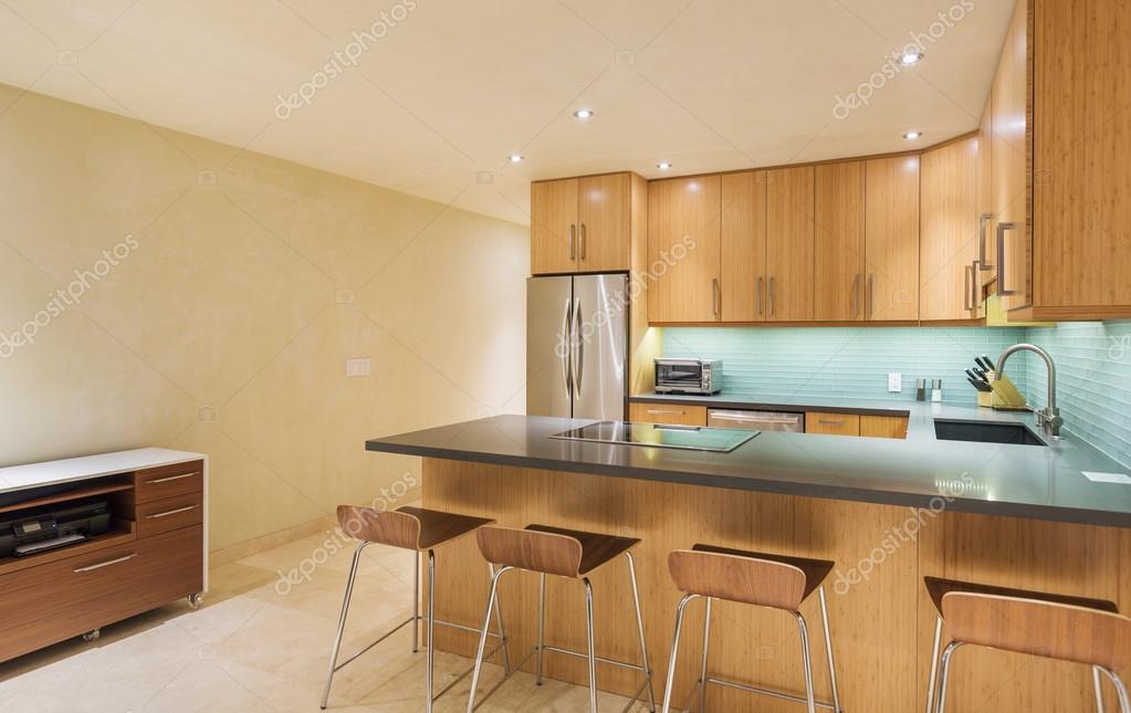 Küche Interieur, modernen Architektur zu entwerfen — Stockfoto ...