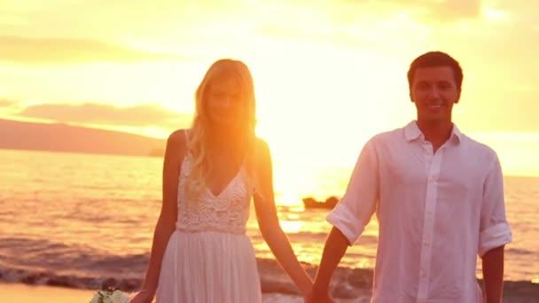 Braut und Bräutigam, heiratete romantische neu paar