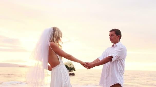 nevěsta a ženich, romantické nově manželský pár