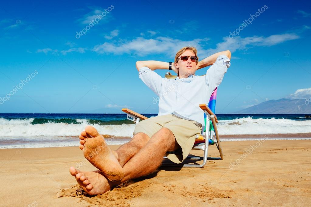 Entrepreneur Relaxing on the Beach