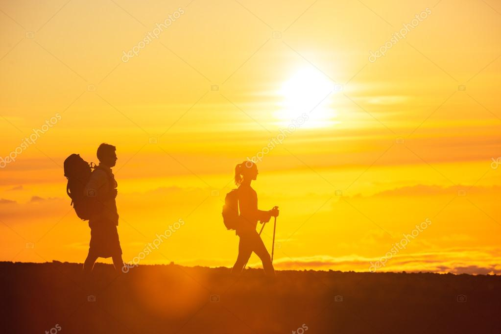 Sunset Hikers